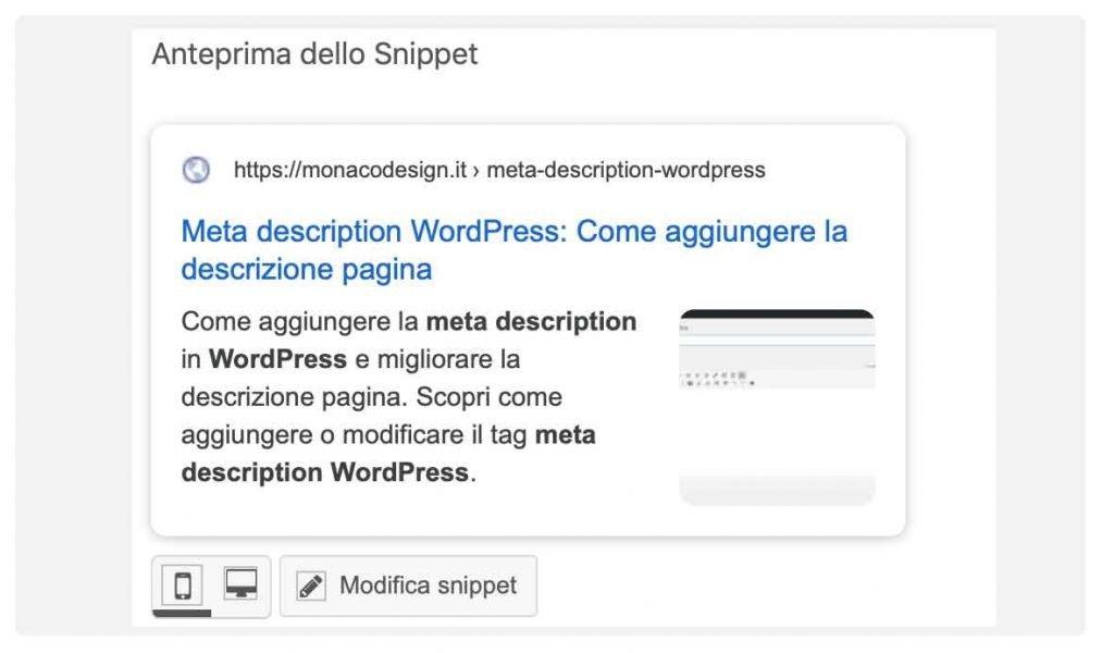 Come aggiungere meta description worpdpress