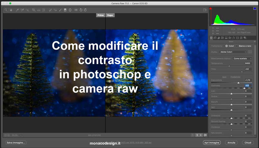 Modificare il contrasto photoshop