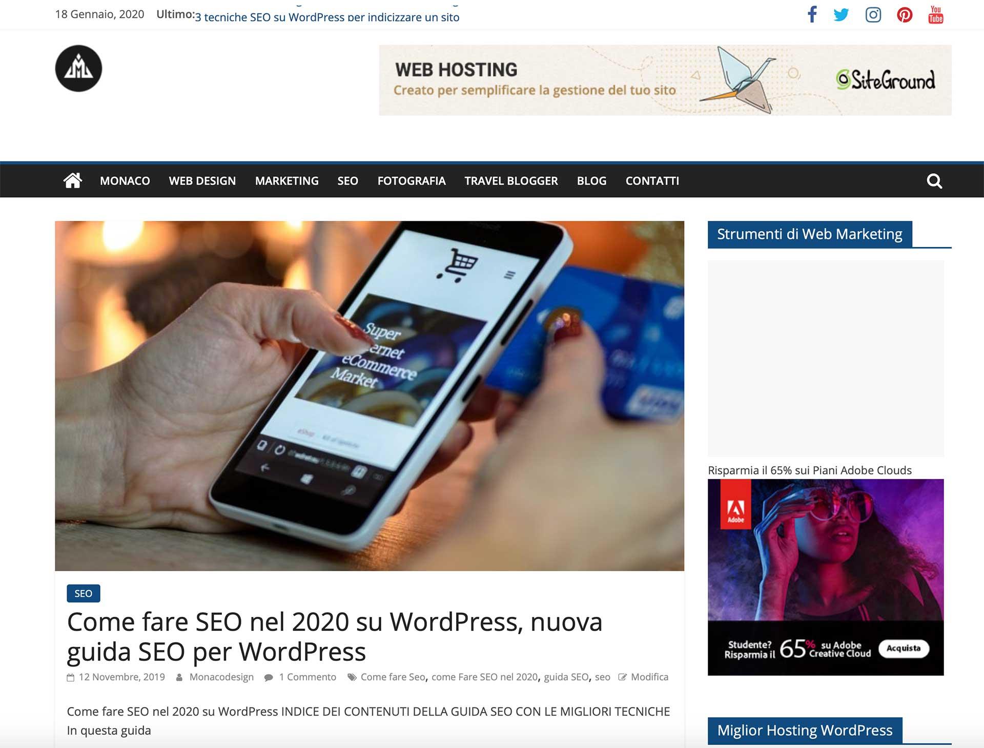 blog di web marketing