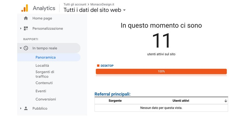 Impostare Google Analytics
