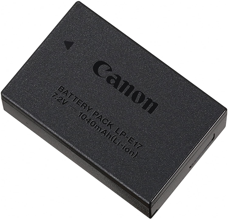 Batteria ricaricabile Canon LP-E17 compatibile con EOS 750D e EOS 760D.