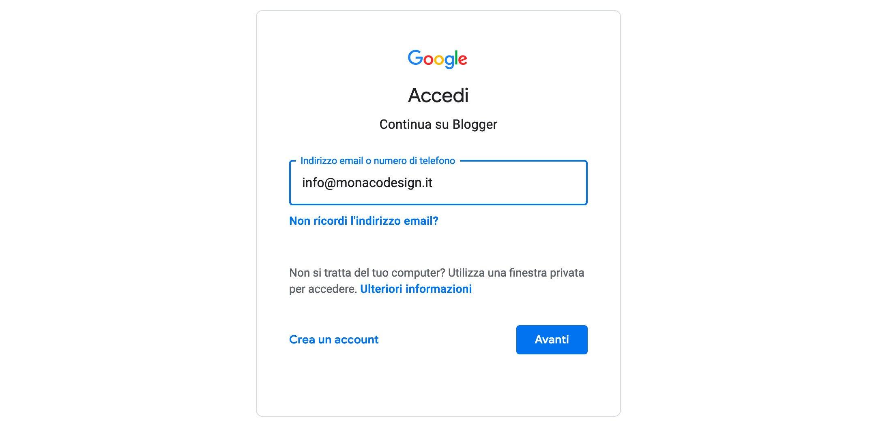 Come aprire un blog Google