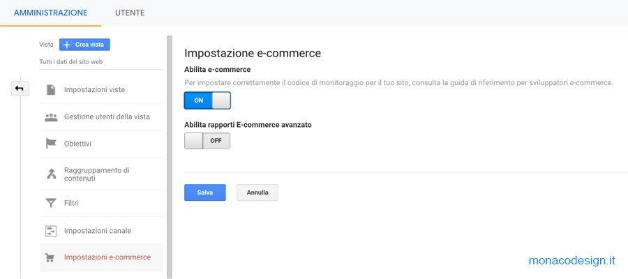 Tracciare un sito e-commerce con Google Analytics